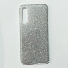 Бампер для Huawei P20 Pro с блесками Серебристый
