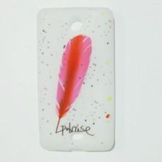 """Бампер """"Пір'я"""" для Nokia Lumia 430 Білий"""