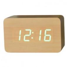 Часы настольные VST 863-4 Зеленая подсветка Бежевый