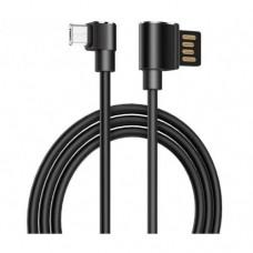 Кабель Hoco U37 micro USB кутовий довжина 1,2 метрa Чорний