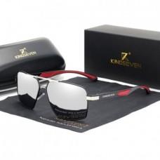 Сонцезахисні окуляри KINGSEVEN 7719 з футляром Дзеркальний+Сірий
