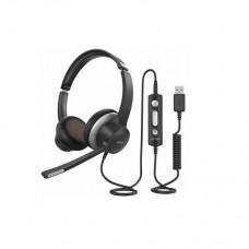 Навушники  BH328A з мікрофоном Чорний+ Срібло