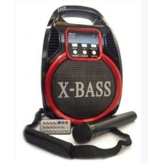 Портативна акустична система Golon RX-820 BT з мікрофоном Чорний+Червоний