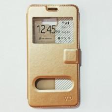 Чехол-книжка для Samsung A720 Золотой