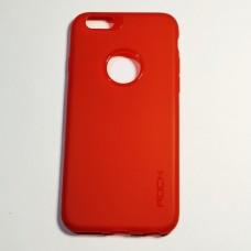 Бампер Rock для iPhone 6/6S силиконовый Червоний