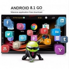 Автомагнитола FZ 701TA 2 Din с GPS 2/16 GB на Android 9.0 Черный
