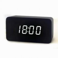 Часы настольные VST 863-5 Белая подсветка Черный