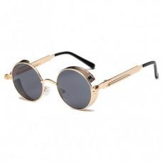 Металлические круглые ретро очки для женщин Molniya Черно-Желтый