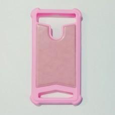 Бампер універсальний 4.5-5.0 дюймів Рожевий