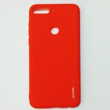 Бампер для Huawei Y7 Prime 2018 Smit Красный