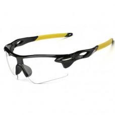 Спортивные защитные очки прозрачные линзы Прозрачный- желтый