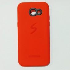 Бампер для Samsung A520 2017 Красный