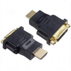 Переходник-адаптер DVI мама-HDMI папа Черный