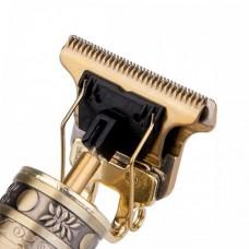 """Окантовочна машинка для волосся """"Vintage T9 - Череп"""" Золотий"""