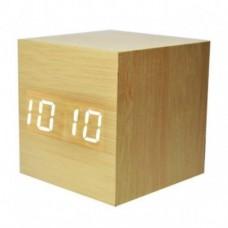 Настольные часы VST 869 белая подсветка Бежевый