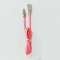Кабель Zinc micro USB 1 метр Розовый