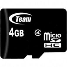 Карта памяти Team Group Micro SD 4 Class 4 GB Черный