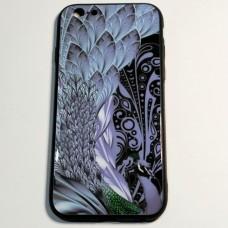 """Бампер """"Павич"""" для iPhone 6/6S Чорний"""