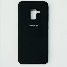 Бампер для Samsung A8 2018 Soft Touch Черный