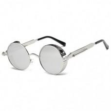 Металлические круглые ретро очки для женщин Molniya Серебристый