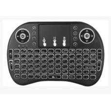 Бездротова клавіатура Rii mini i8 з підсвіткою російська мова Чорний
