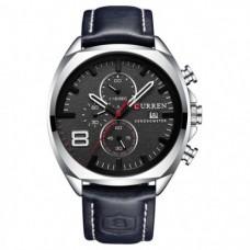Кварцевые часы Curren 8324 Серебро+Черный