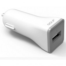 Автомобильное зарядное устройство Golf GF-CQ1 3A Белый