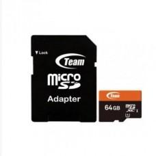 Карта Пам'яті Team micro SD 10 Class 64 GB з адаптером Чорний