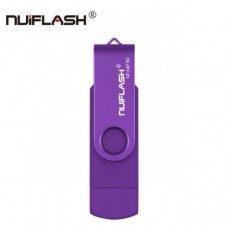 OTG USB Flash накопитель 32 GB Nuiflash Фиолет