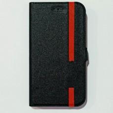 Универсальный чехол книжка для телефона 4,8-5,0 дюймов с красной линией Черный