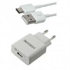 Сетевое зарядное устройство Samsung S9 2A Fast charge micro USB Белый