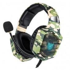 Навушники для ПК с мікрофоном Onikuma K8 Хакі