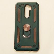 Бампер для Xiaomi Redmi Note 8 Pro Antishock Зеленый+Черный Черный+Зеленый