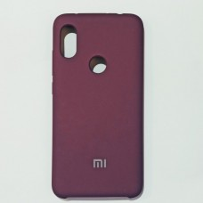 Бампер для Xiaomi Redmi Note 6 Soft Touch Фиолетовый
