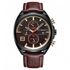 Кварцевые часы Curren 8324 Черный+Коричневый