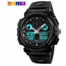 Спортивные часы Skmei S Shock Черно-Белый