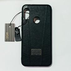 Бампер кожаный для Xiaomi A2 Lite, Redmi 6 Pro Черный