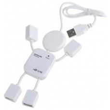 USB HUB 4 в 1 человечек Белый