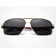 Сонцезахисні окуляри KINGSEVEN 7719 з футляром Чорний+Золото+Червоний
