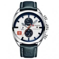 Кварцевые часы Curren 8324 Серебро+Белый