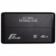 Зовнішня кишеня Frime Sata HDD\SSD 2.5, USB 2.0 metall Чорний