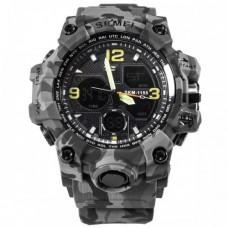 Спортивний годинник Skmei 1155B Сірий+Комуфляж