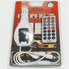 Автомобільний FM модулятор та зарядний пристрій A10 Білий