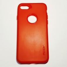 Бампер для iPhone 7/8 силиконовый Rock Красный