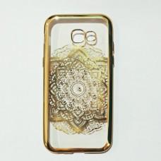 Бампер для Samsung A520 А5 2017 Золотистый