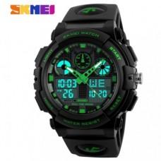 Спортивные часы Skmei S Shock Черно-зеленые