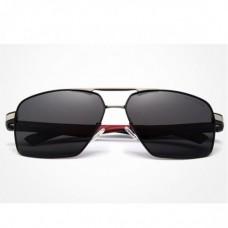Сонцезахисні окуляри KINGSEVEN 7719 з футляром Чорний+Срібло+Червоний