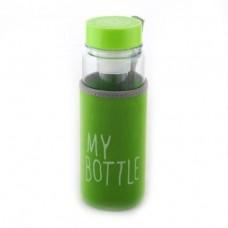 Бутылка с чехлом My Bottle с фильтром для фруктов 500 мл. Зеленый