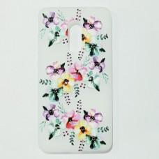 Бампер для Xiaomi Redmi Note 4 X с цветами Белый