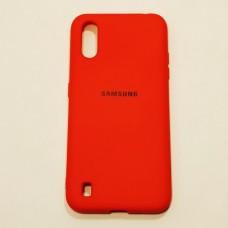 Бампер для Samsung A01/A015 Soft-touch Красный